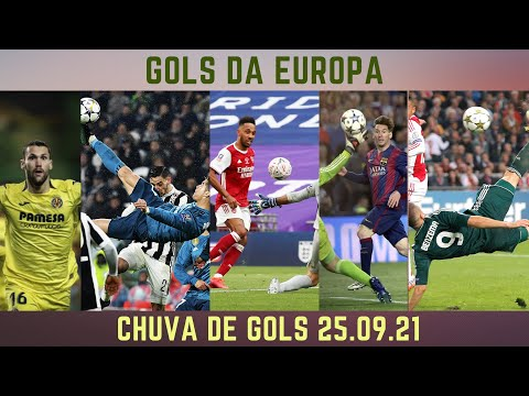 CHUVA DE GOLS NA EUROPA 25.09.21 #futebol