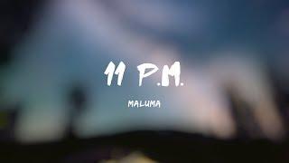 Maluma - 11 P.M. [Official Letra/Lyrics]