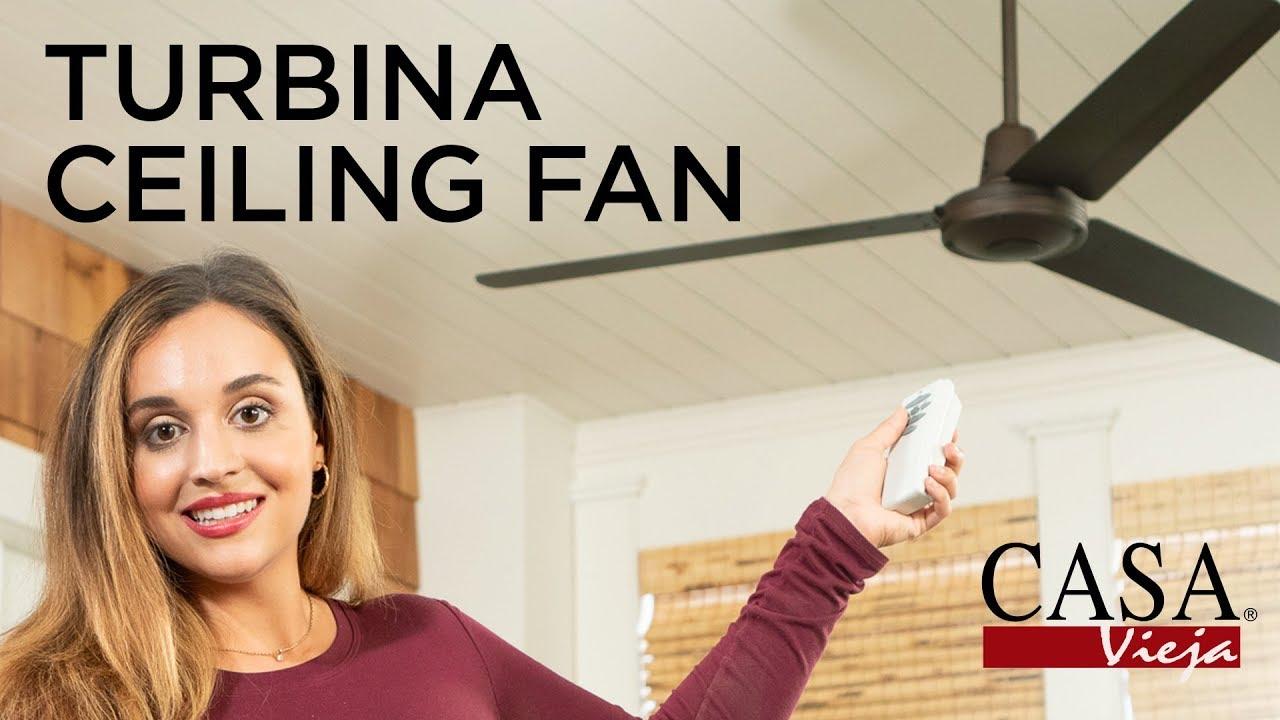 Turbina Damp Location Ceiling Fan