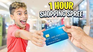Giving our SON 1 Hour to Buy Whatever He Wants - Challenge 💰
