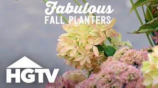 Fresh Ideas For Fall Planters - Way To Grow - HGTV