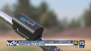 Bluetooth smartphone accessory, SwingTip, helps you perfect your golf swing