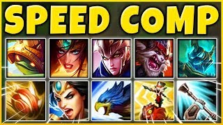 SUPER SPEED COMP 2019 (OVER 10,000 MS TOTAL) THE CRAZIEST TEAM EVER! - League of Legends