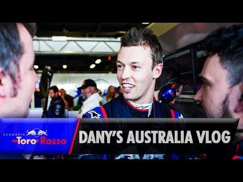 Australian GP Vlog - Daniil Kvyat
