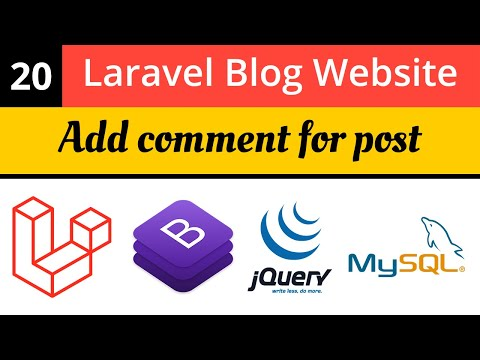 Add comment for post | Laravel Blog Website | Laravel 8 Tutorial | Learn Laravel 8