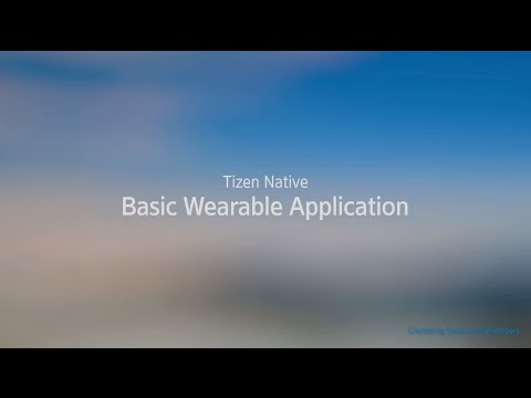 [Native] Basic Wearable Application