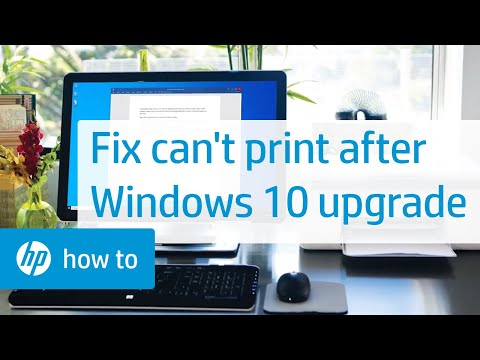 Can't Print After Windows 10 Update or Upgrade