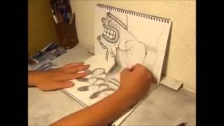 Смотреть Прикол Рисует супер! 3Д рисунок! 3D Drawing - Dealings