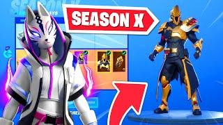 *NEW* SEASON X BATTLE PASS in Fortnite - OG skins RETURN! (Season 10)