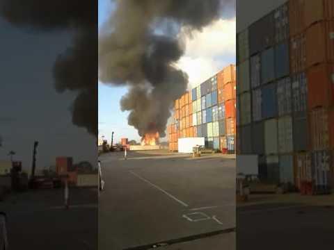 حريق في مصنع للصلب بعين حرودة