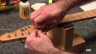 ESP Guitars: Restringing a guitar with a Floyd Rose