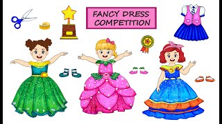 [DIY] Paper Dolls Win On Fancy Dresss Competition! Beautiful Dressing Up Handmade Papercrafts