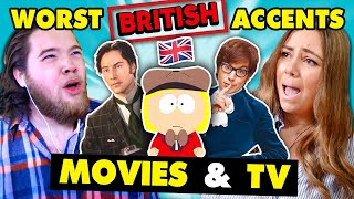 British People React To BAD British Accents In TV & Movies (South Park, Austin Powers, Mary Poppins)