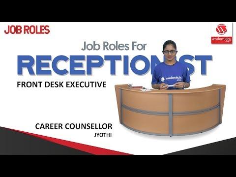 Job Roles for Receptionist   The Receptionist - Front Desk Executive @Wisdom jobs