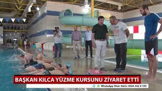 Başkan Kılca yüzme kursunu ziyaret etti