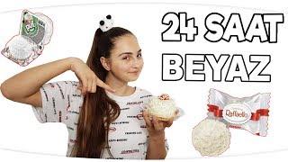 24 SAAT BOYUNCA TEK RENK HERŞEY BEYAZ !!!  ( Beyaz Pasta - Beyaz Kahvaltı - Beyaz Yemekler )