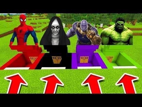 NEVYBER SI ŠPATNÉ DVEŘE OD BUNKRU! (Spiderman, The Nun, Thanos, Hulk)