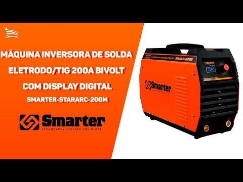 Máquina Inversora de Solda Eletrodo/TIG 200A Bivolt com Display Digital - Video