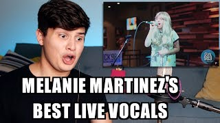 Vocal Coach Reaction to Melanie Martinez Best Live Vocals