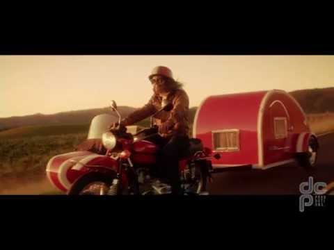 Regret, redhead in geico motorcycle commercial excited