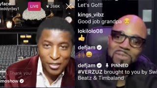 NEW! Teddy Riley Verzuz Babyface – RnB Hits Broke IG Live [Full Version]
