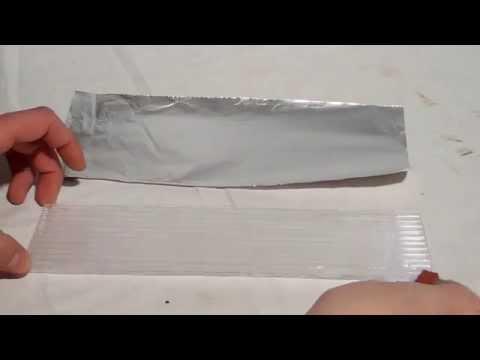 Anleitung / Tutorial: Kontaktkleben von Aluminiumfolie auf Polycarbonatplatten mit Kontaktkleber