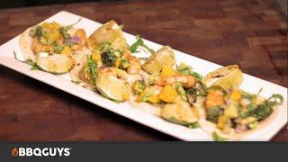 Shrimp Tacos with Avocado & Mango Salsa Recipe | BBQGuys
