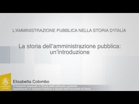 Colombo - 01 - La storia dell'amministrazione pubblica: un'introduzione