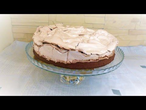 Шоколадный торт с мятной меренгой \  chocolate cake with a mint meringue