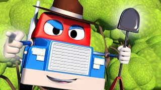 Truck videos for kids -  The forest rescue truck  - Super Truck in Car City