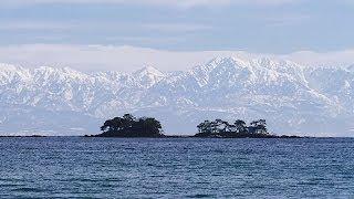 冬の「立山連峰」眺望