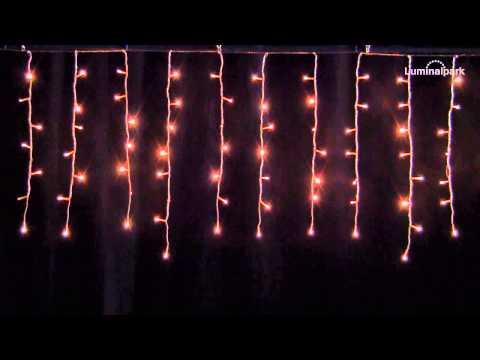Tenda h m led bianco caldo cavo trasparente