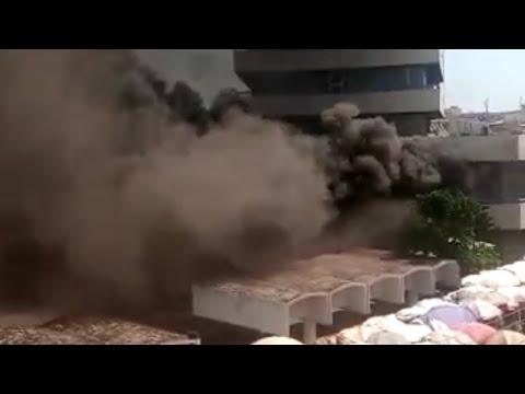 Kantamanto Liberty House Gcb Bank On Fire