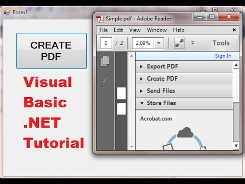 Visual Basic .NET Tutorial 47 – iTextSharp : How to create PDF file in VB.NET