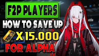 F2P: HOW TO SAVE UP 15,000 BLACK CARDS FOR ALPHA EASILY | PUNISHING GRAY RAVEN