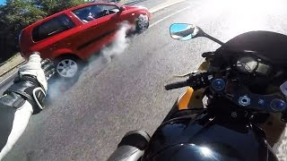 Stupid, Crazy & Angry People Vs Bikers | Bad Drivers Caught On Go Pro Ep [#114]