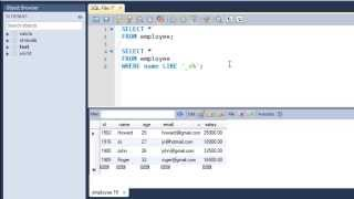 SQL Tutorial - 23: The LIKE Operator and Wildcard Characters