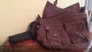 Messenger Bags Reviewed! Berchirly Vintage Military Men Canvas Messenger Bag