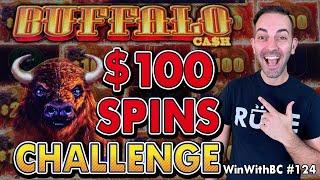  $100 Spins Challenge On Buffalo Cash 