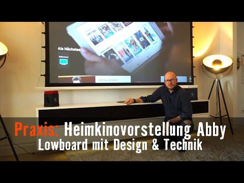 Heimkino Abby - Design Lowboard mit integrierter Sound und Video Technik