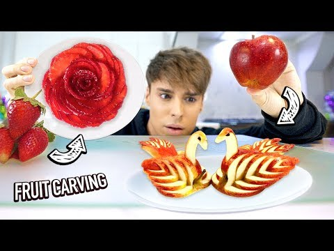 i tested 5-MINUTE CRAFTS' fruit carving hacks & fruit ART