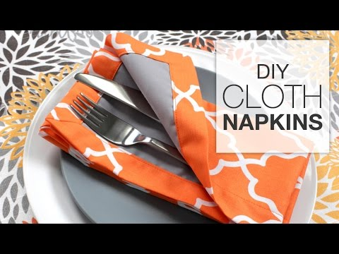 How Sew Fabric Napkins