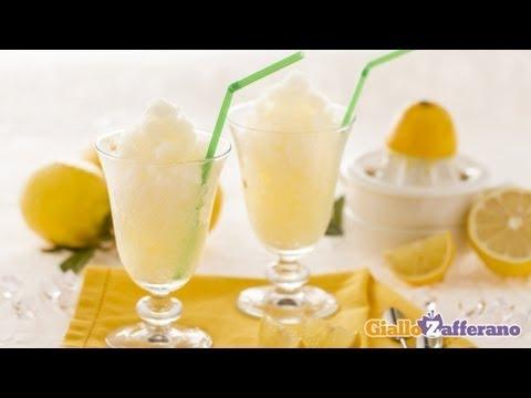 Video Lemon granita - Italian recipe