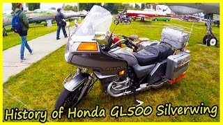 Japanese Classic Motorcycles of the 80s. History of Honda GL500 Silverwing 1982.