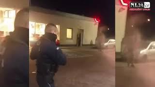 Kobieta wjeżdża w stację benzynową w Rymaniu. Bezradna policja