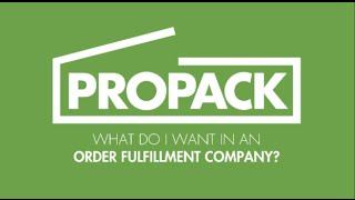 Watch What Do I Want In An Order Fulfillment Company?