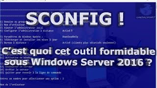 Configurer Windows Server 2012 en ligne de commande avec sconfig