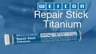 Loch In Einem Rohr Ausbessern   WEICON Repair Stick Titanium
