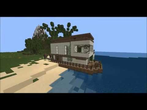 Modern Beach House Minecraft Map