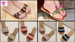 NEW FLAT COMFORTABLE FOOTWEAR COLLECTION FOR SUMMER || LADIES FLAT PARTY & CASUAL SANDALS